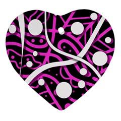 Purple harmony Ornament (Heart)