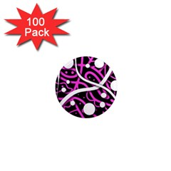Purple harmony 1  Mini Magnets (100 pack)