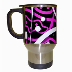 Purple harmony Travel Mugs (White)