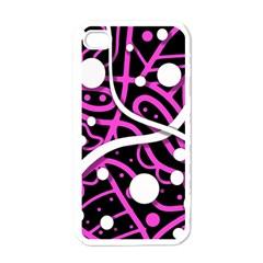 Purple harmony Apple iPhone 4 Case (White)