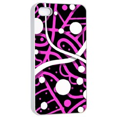 Purple harmony Apple iPhone 4/4s Seamless Case (White)