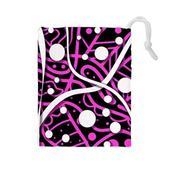 Purple harmony Drawstring Pouches (Large)