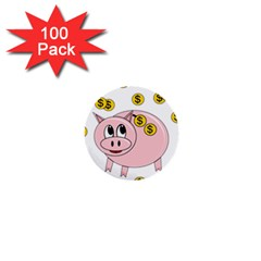 Piggy bank  1  Mini Buttons (100 pack)