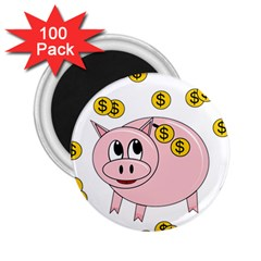 Piggy bank  2.25  Magnets (100 pack)