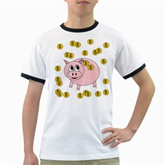 Piggy bank  Ringer T-Shirts