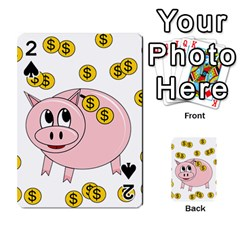 Piggy bank  Playing Cards 54 Designs
