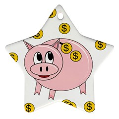 Piggy bank  Star Ornament (Two Sides)