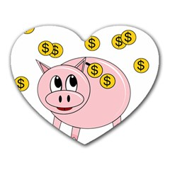 Piggy bank  Heart Mousepads