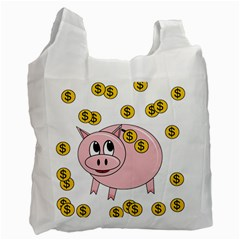Piggy bank  Recycle Bag (One Side)