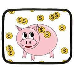 Piggy bank  Netbook Case (XXL)