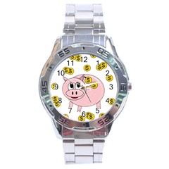 Piggy bank  Stainless Steel Analogue Watch