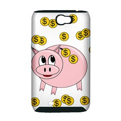 Piggy bank  Samsung Galaxy Note 2 Hardshell Case (PC+Silicone)