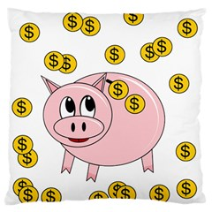 Piggy bank  Large Flano Cushion Case (Two Sides)