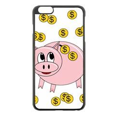 Piggy bank  Apple iPhone 6 Plus/6S Plus Black Enamel Case