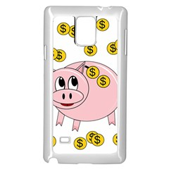 Piggy bank  Samsung Galaxy Note 4 Case (White)