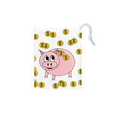 Piggy bank  Drawstring Pouches (XS)