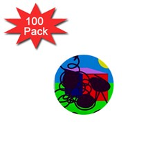 Sunny day 1  Mini Buttons (100 pack)