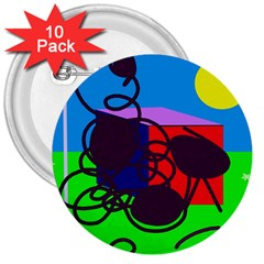 Sunny day 3  Buttons (10 pack)