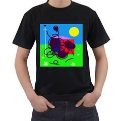 Sunny day Men s T-Shirt (Black)
