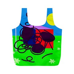 Sunny day Full Print Recycle Bags (M)