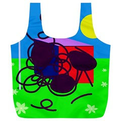 Sunny day Full Print Recycle Bags (L)