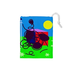 Sunny day Drawstring Pouches (Small)
