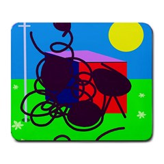 Sunny day Large Mousepads
