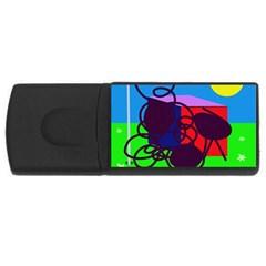 Sunny day USB Flash Drive Rectangular (2 GB)