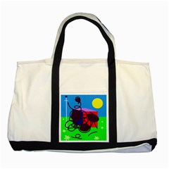 Sunny day Two Tone Tote Bag