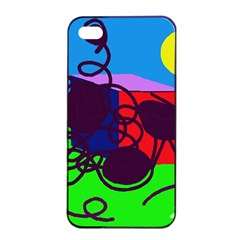 Sunny day Apple iPhone 4/4s Seamless Case (Black)