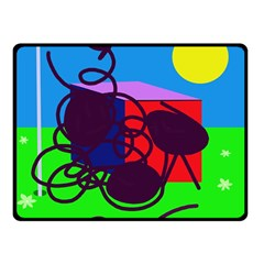 Sunny day Double Sided Fleece Blanket (Small)