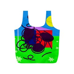 Sunny day Full Print Recycle Bags (S)
