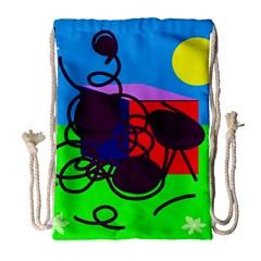 Sunny day Drawstring Bag (Large)