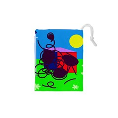 Sunny day Drawstring Pouches (XS)