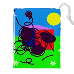Sunny day Drawstring Pouches (XXL)