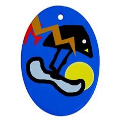 Little bird Ornament (Oval)