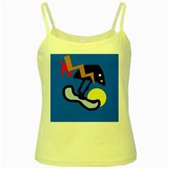 Little bird Yellow Spaghetti Tank
