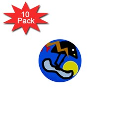 Little bird 1  Mini Buttons (10 pack)