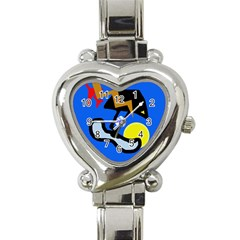 Little bird Heart Italian Charm Watch