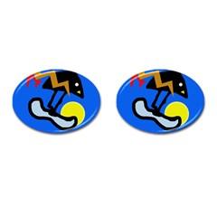Little bird Cufflinks (Oval)