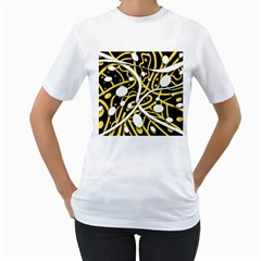 Yellow movement Women s T-Shirt (White) (Two Sided)