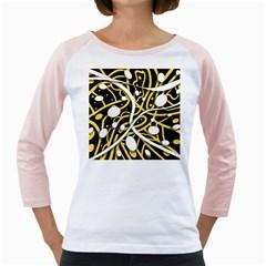Yellow movement Girly Raglans
