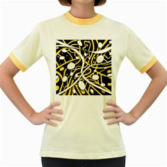 Yellow movement Women s Fitted Ringer T-Shirts