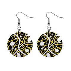 Yellow movement Mini Button Earrings