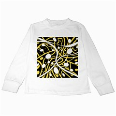 Yellow movement Kids Long Sleeve T-Shirts