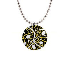 Yellow movement Button Necklaces