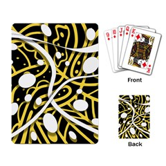 Yellow movement Playing Card