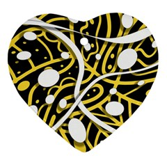 Yellow movement Heart Ornament (2 Sides)