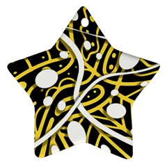 Yellow movement Star Ornament (Two Sides)