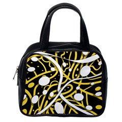 Yellow movement Classic Handbags (One Side)